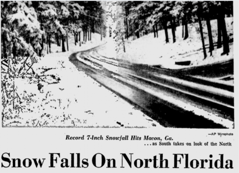 1973: The Great Southeastern Snowstorm