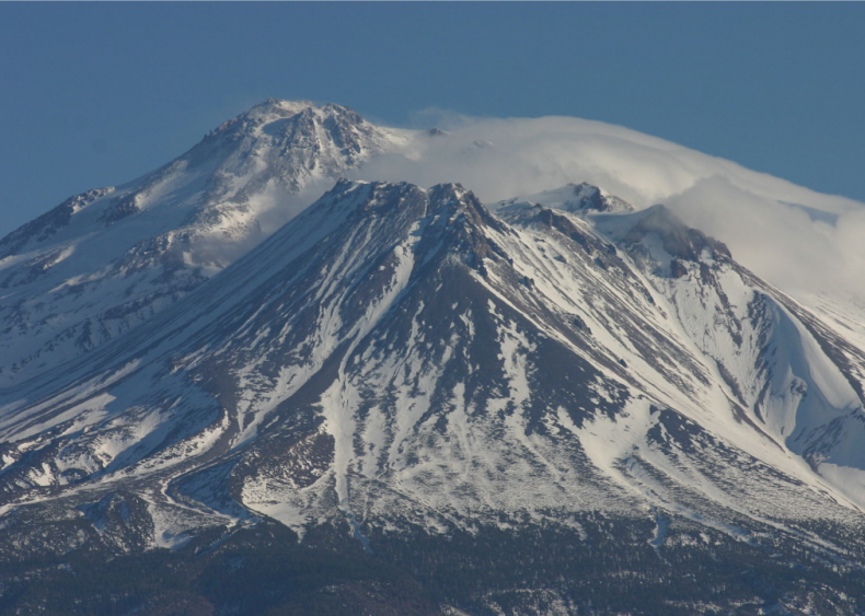 1982: A frigid winter with snowfall records in Mt. Shasta