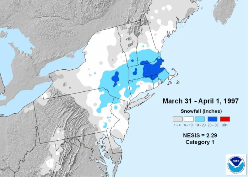 1997: April Fool's Day blizzard
