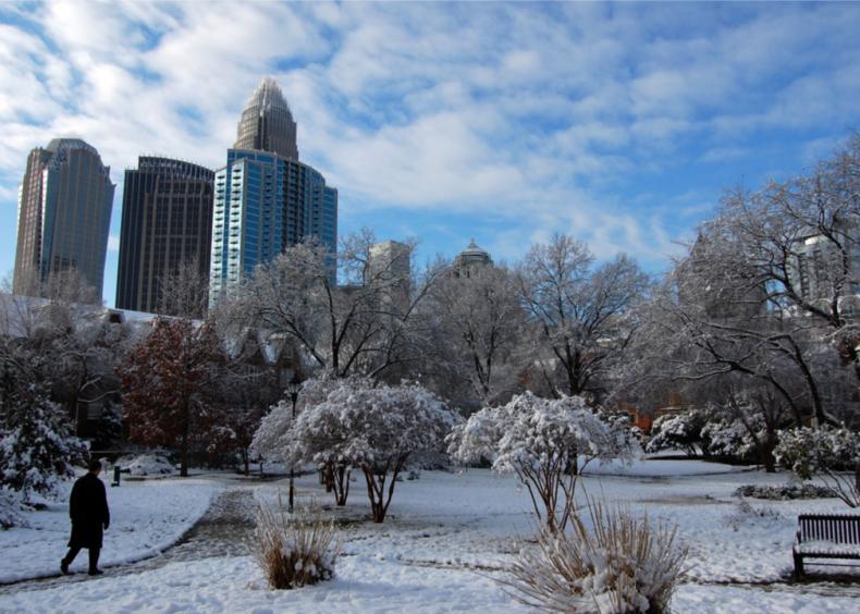2004: Blizzard in Charlotte, North Carolina