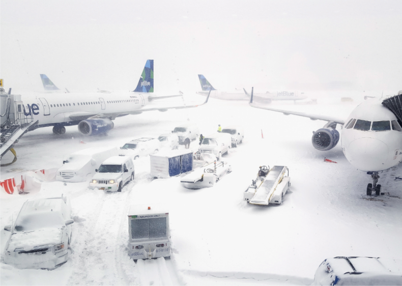 2018: North American blizzard in January