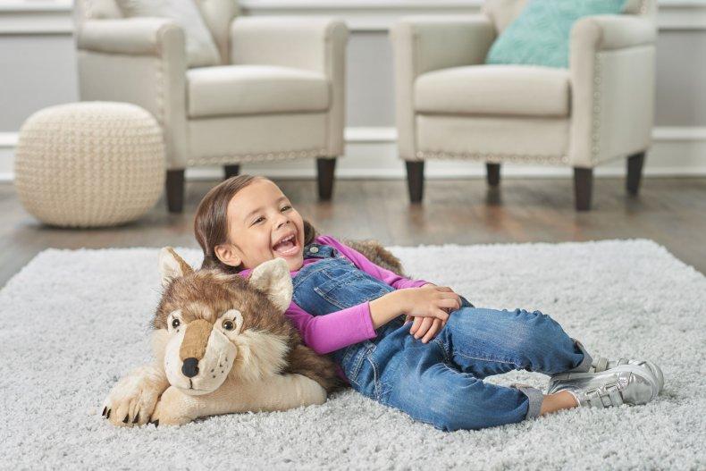 Jumbo Wolf Stuffed Animal