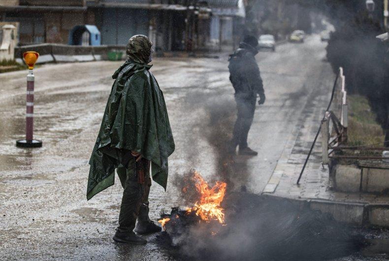 syria, kurdish, qamishli, protests