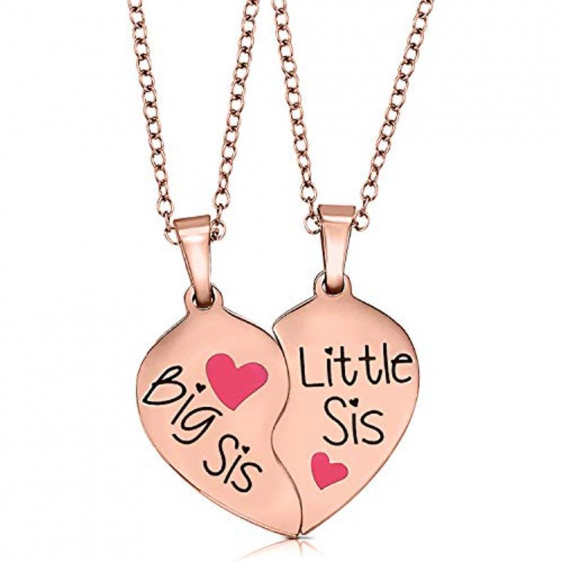 Sister necklace valentine's day