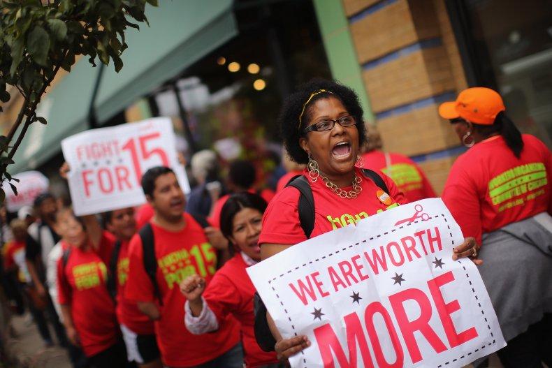 $15 minimum wage campaign fight poll raise