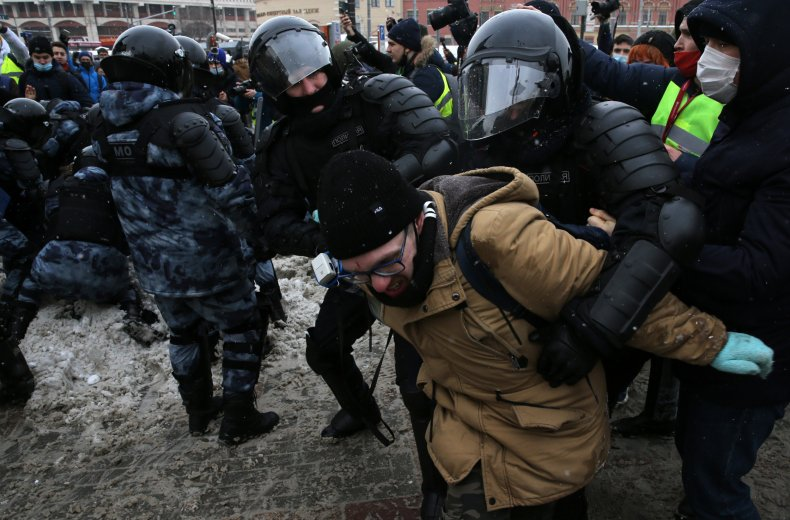 Protests support Alexei Navalny in Moscow, Russia