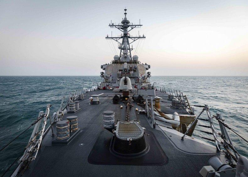 U.S. Navy Destroyer Transits Taiwan Strait