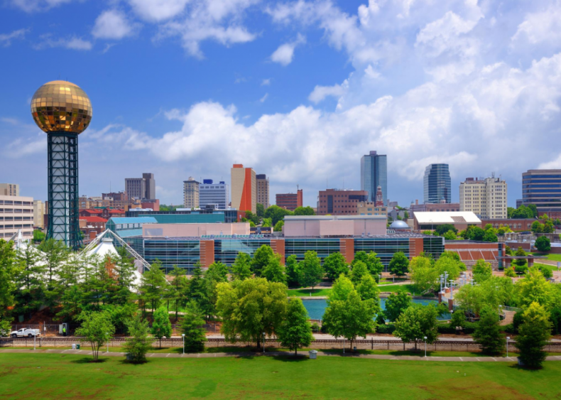 #89. Knoxville, Tennessee (tie)