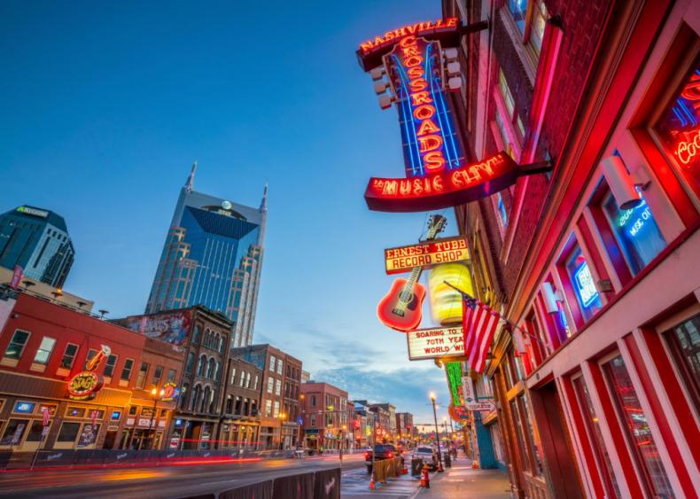 #88. Nashville, Tennessee (tie)