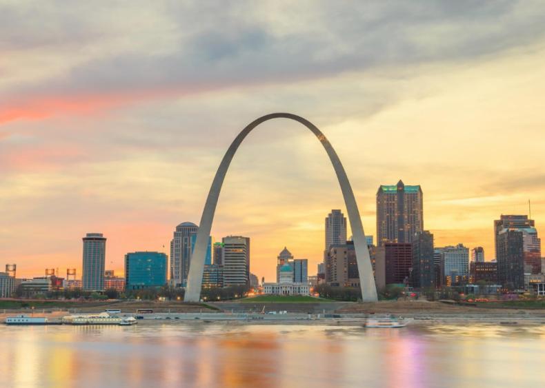 #48. St. Louis, Missouri (tie)