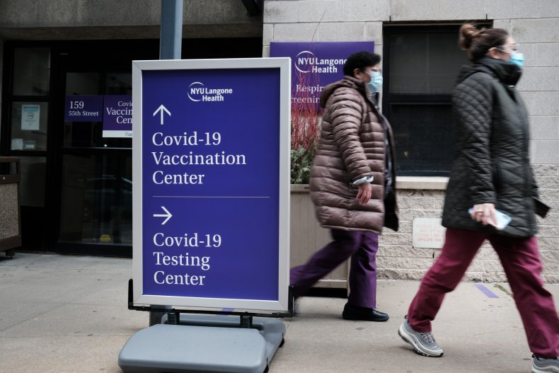 COVID vaccination testing centers NYC January 2021