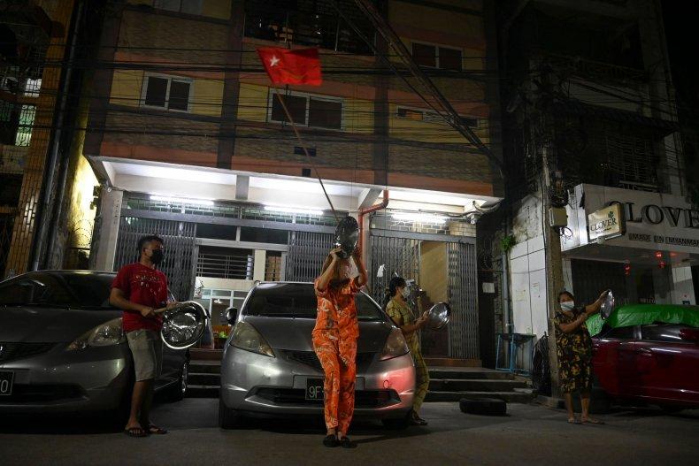 myanmar, noice, campaign, protest, yangon