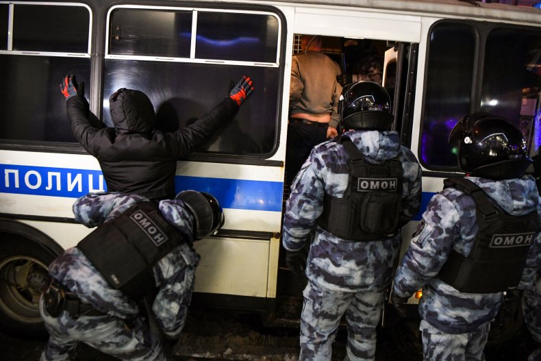 Navalny protester arrested in Moscow