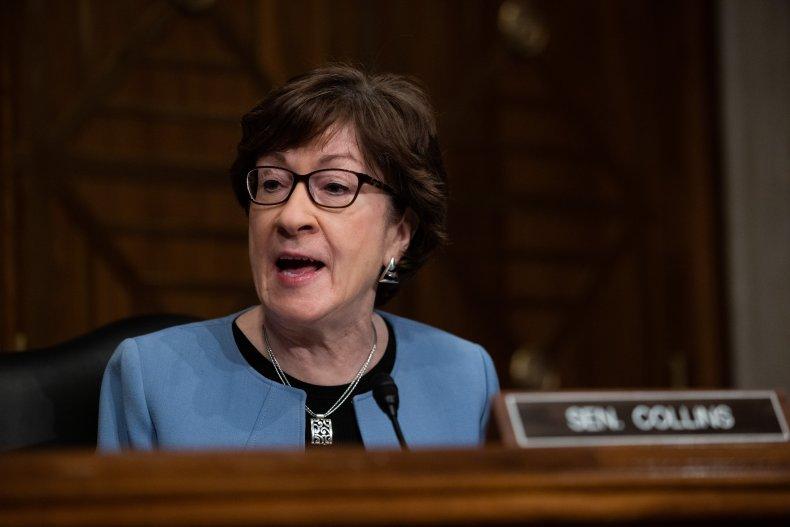 Senator Susan Collins at a Confirmation Hearing