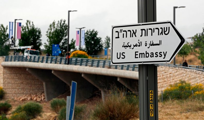 U.S. Embassy Sign Jerusalem