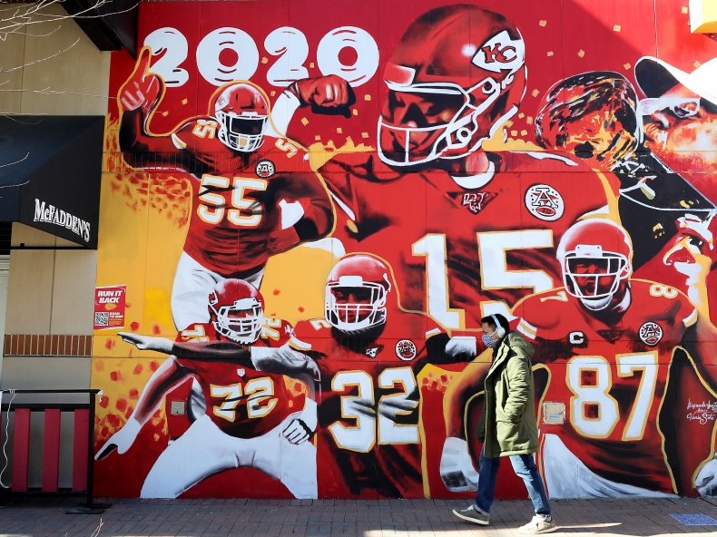 Kansas City Chiefs mural Missouri February 2021