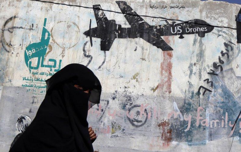 Graffiti of a U.S. drone