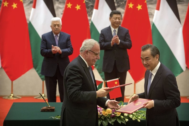 china, xi, palestine, abbas, deal