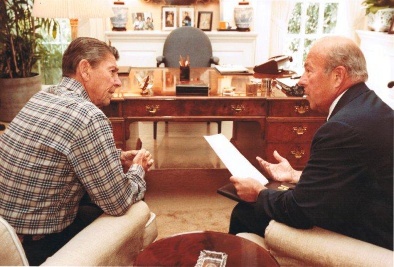 Ronald Reagan and George Shultz