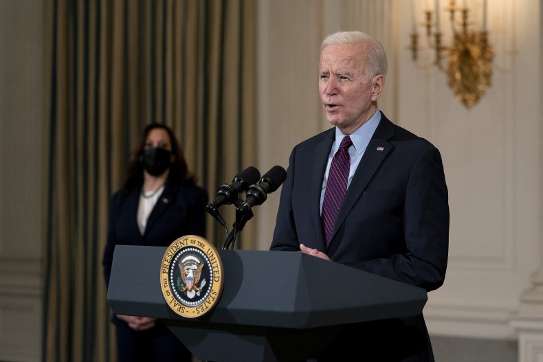 Biden giving press conference on stimulus