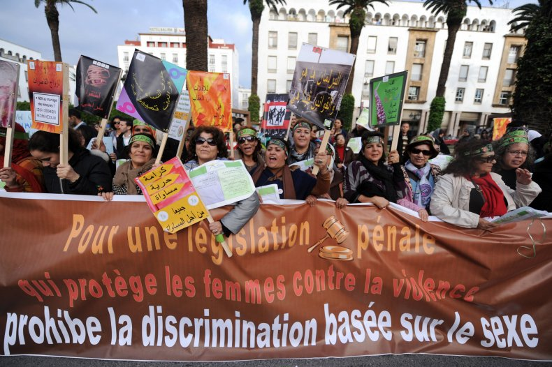 Moroccan women demonstration against gender-based violence