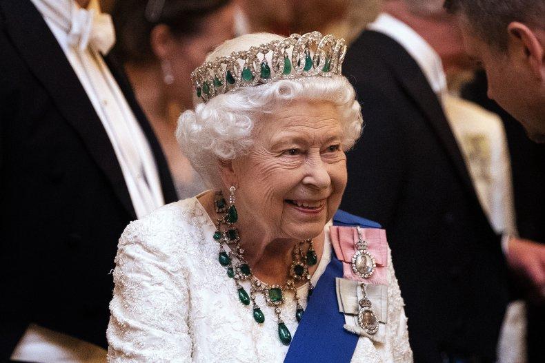Queen Elizabeth II at Buckingham Palace Reception