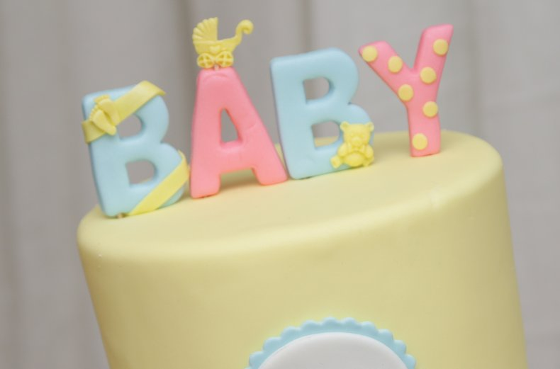 A baby shower cake in NYC