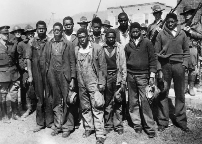 1931: Scottsboro boys are falsely convicted