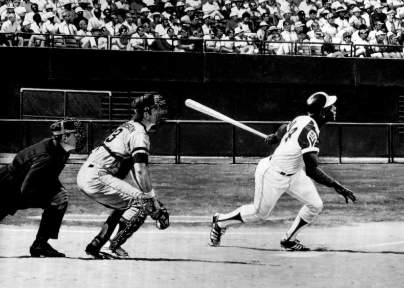 1974: Henry 'Hank' Aaron hits his 715th home run
