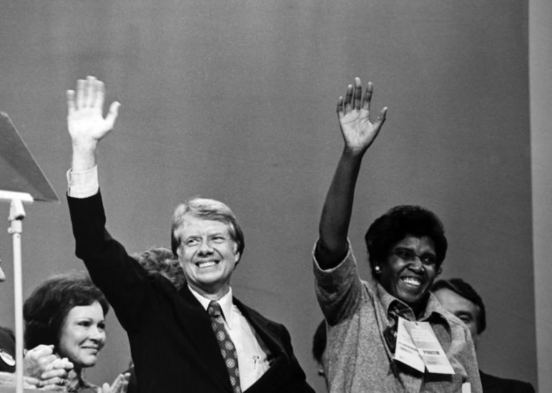 1976: Barbara Jordan delivers keynote address at Democratic National Convention