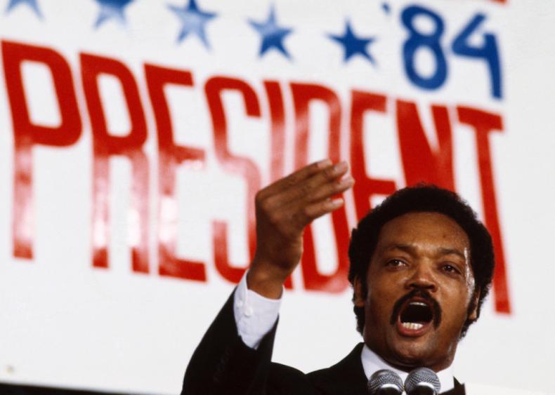 1984: Jesse Jackson runs for president