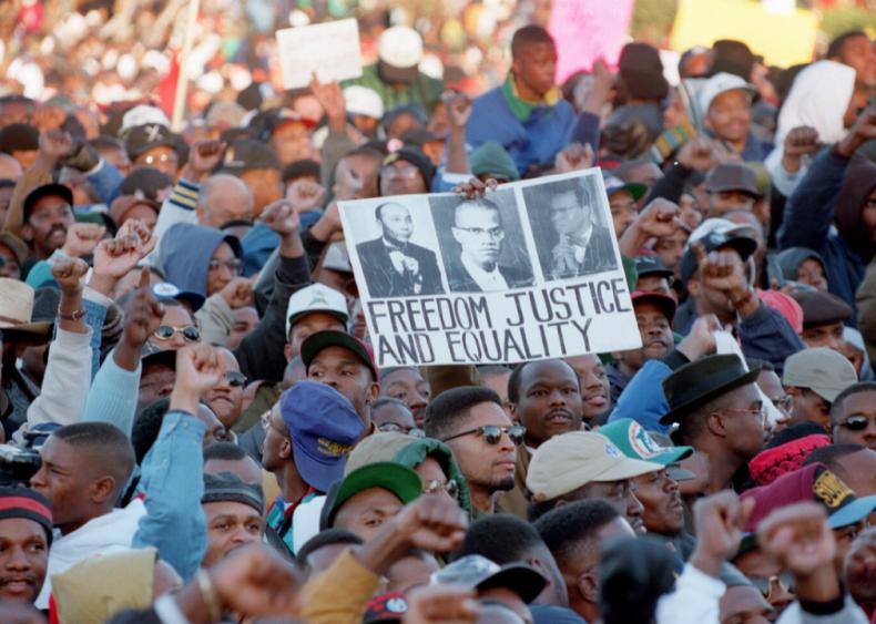 1995: Million Man March is held in Washington D.C.