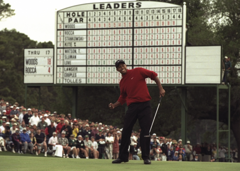 1997: Tiger Woods wins his first major