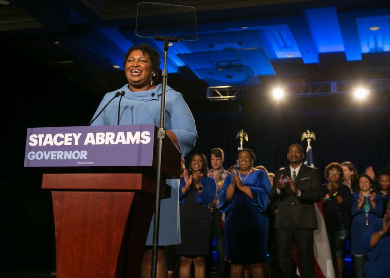 2018: Stacey Abrams runs for governor of Georgia