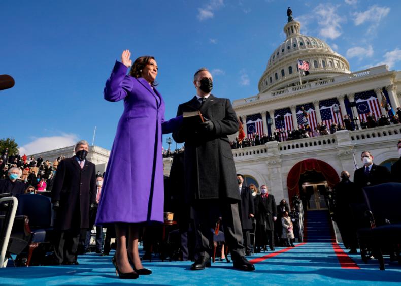 2021: Kamala Harris sworn in as VP