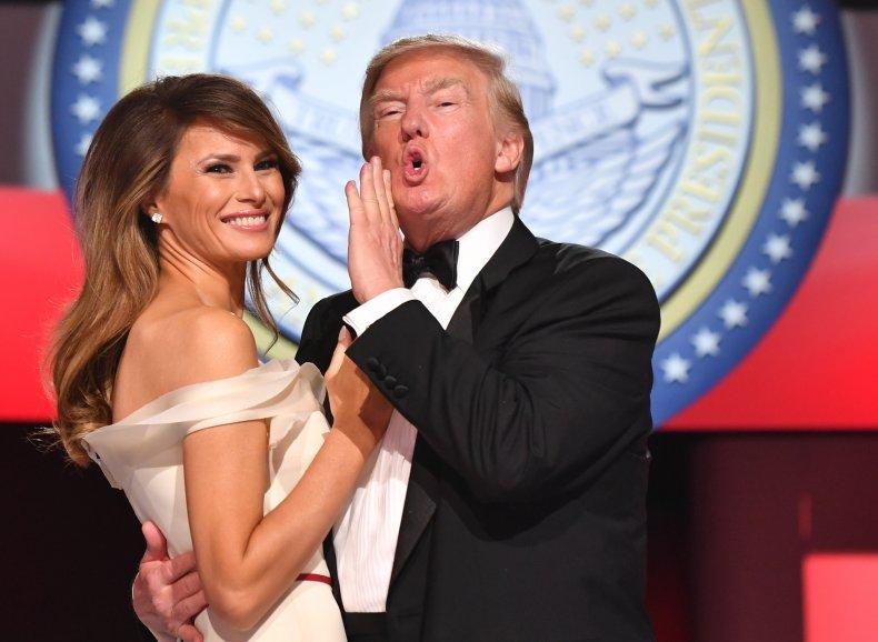 Donald and Melania Trump dance