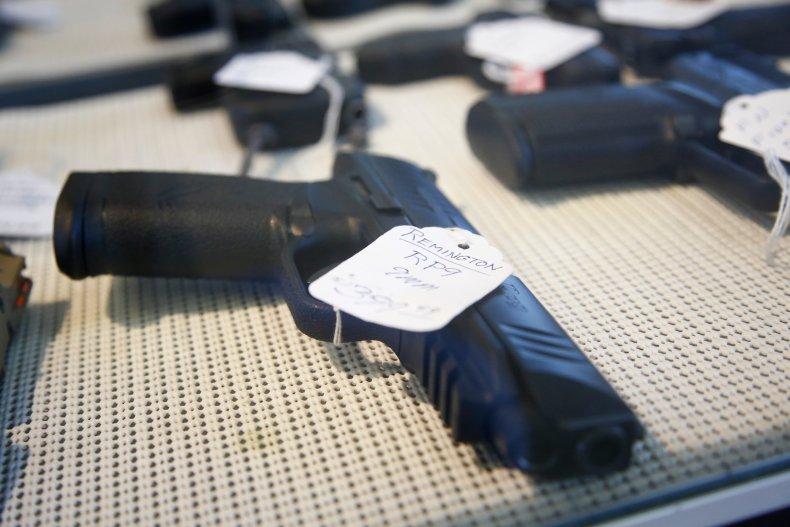 Stock photo shows handgun