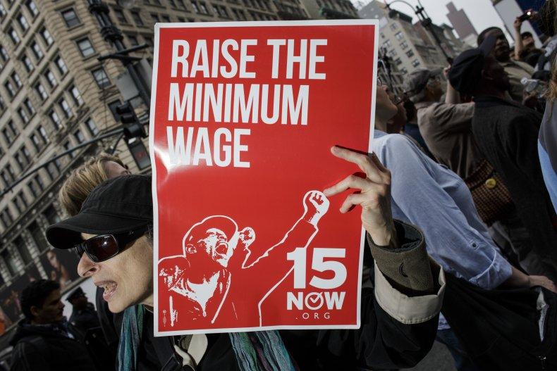 Minimum wage march
