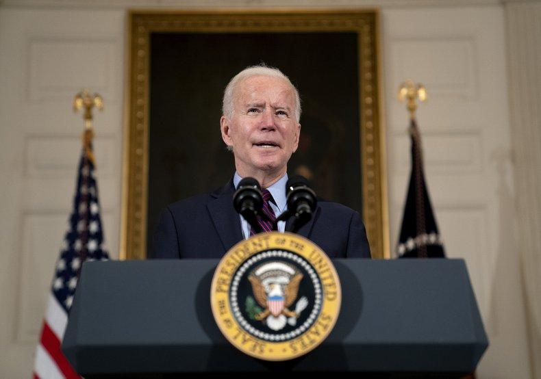 President Joe Biden Speaks at White House