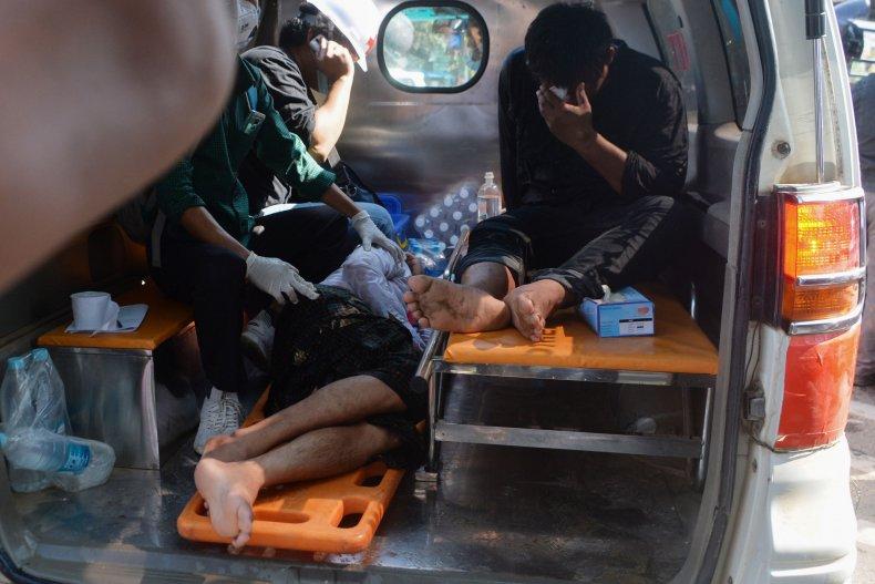 Myanmar protest injuries