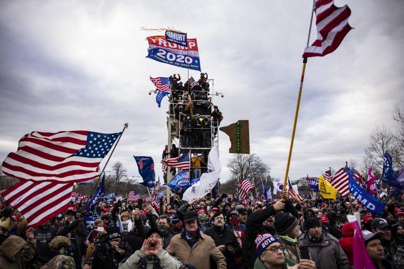 January 6 capitol insurrection trump flags