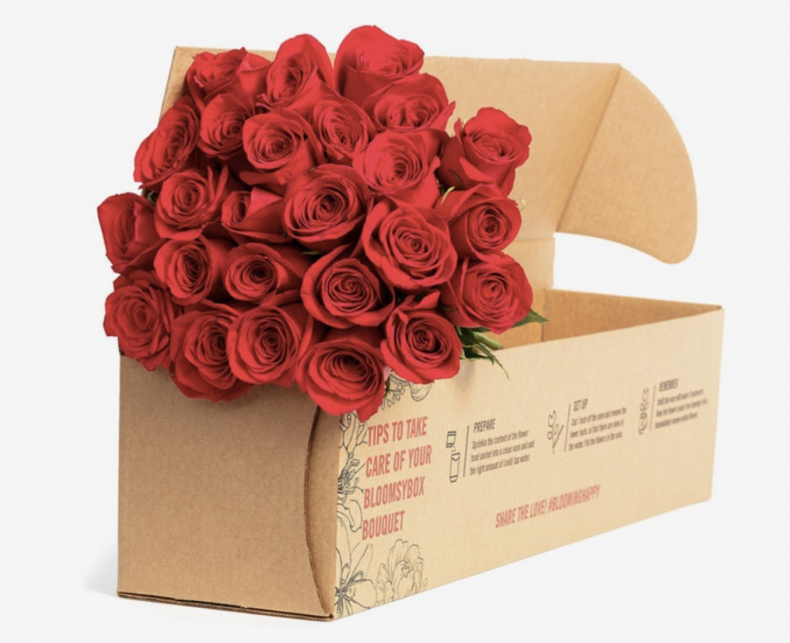bloomsybox valentine's day roses