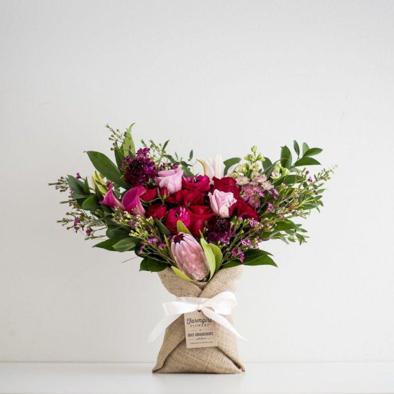 Valentine's Day Roses Farmgirl Flowers