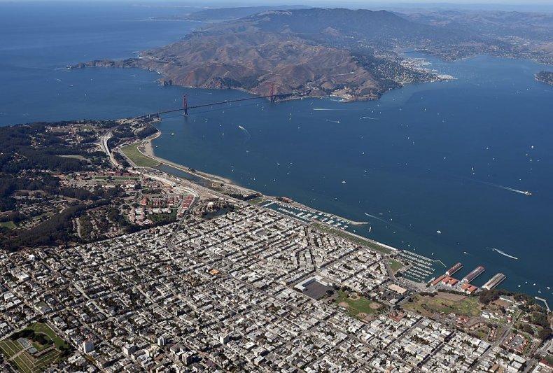 Golden Gate Bridge at San Francisco Bay