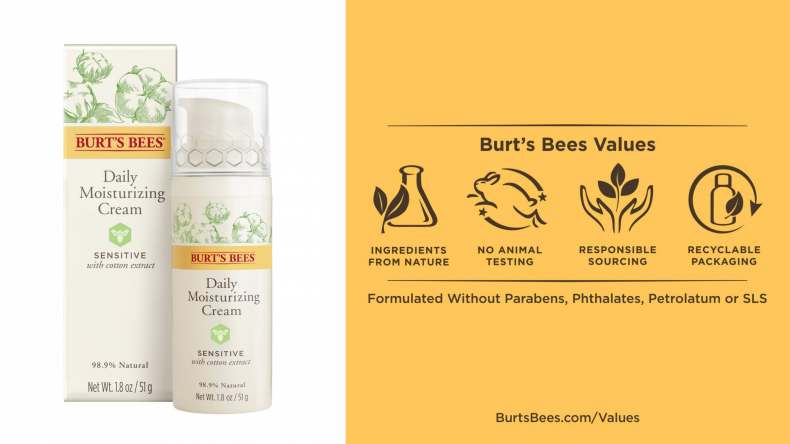 Burt's Bees Daily Face Moisturizer Cream for