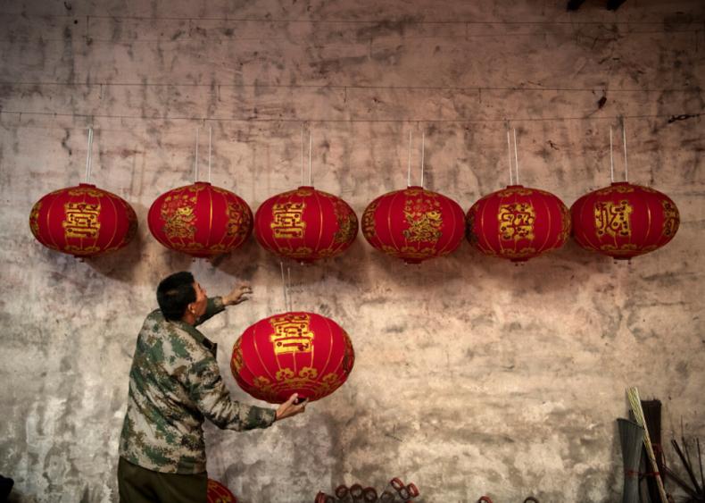 Traditional red lanterns