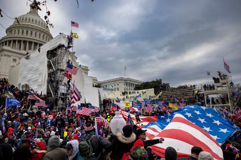 photo of capitol during jan. 6 insurrection