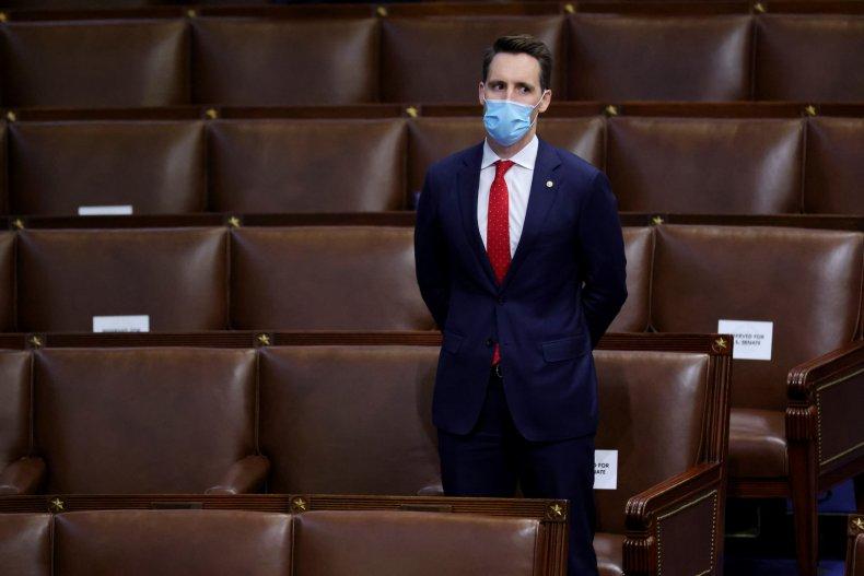 Josh Hawley ignoring impeachment reading paperwork criticism