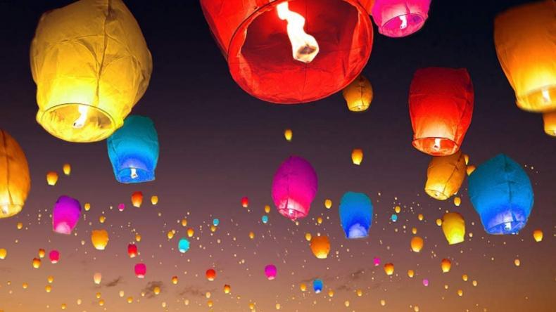 Chinese Lanterns Sky Paper Lanterns