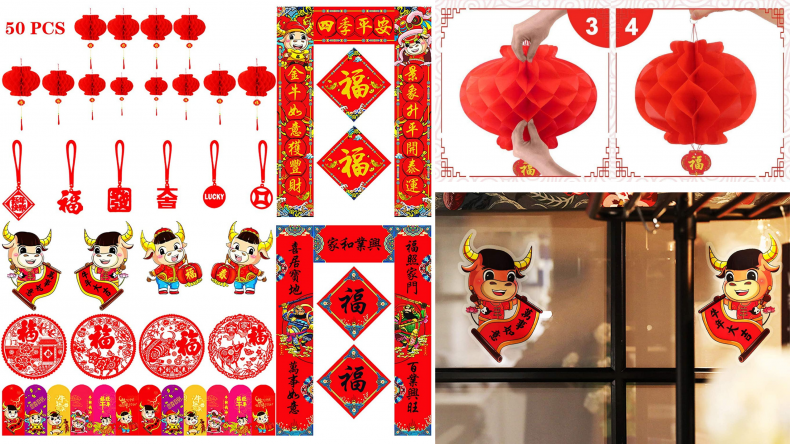 50 Pieces Chinese New Year 2021 Decoration